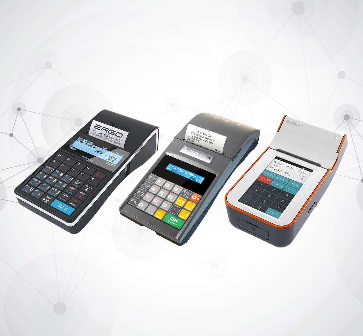 Kasy fiskalne - Posnet Ergo, Novitus Nano E, Elzab K10